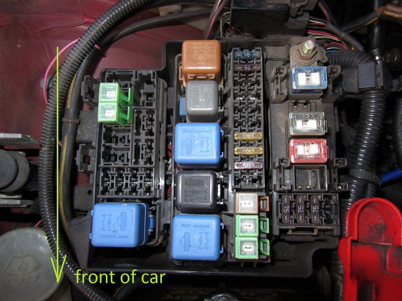 s14 fuse box wiring diagram structure Nissan Sentra Fuse Box Layout